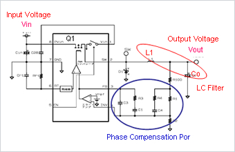 Circuit Diagram of Voltage Step Down DC-DC Converter