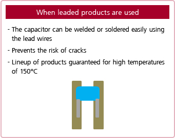 leaded products,lead wires,welded ,soldered,guaranteed for high temperatures of 150°C