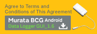 Agree to Terms and Conditions of This Agreement  SCA11H Android Data Logger GUI_1.6
