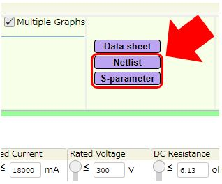 How to download S-parameters and SPICE models (Netlist)
